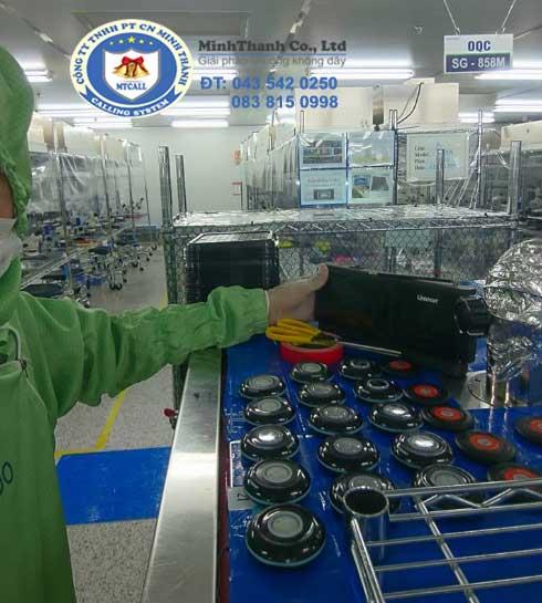 Hình ảnh nhà máy sản xuất chuông gọi phục vụ tại Hàn Quốc