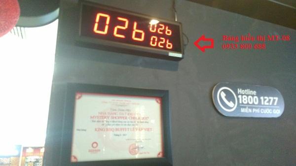 Hệ thống chuông gọi phục vụ không dây Minh Thành lắp đặt cho nhà hàng King BBQ  Buffer