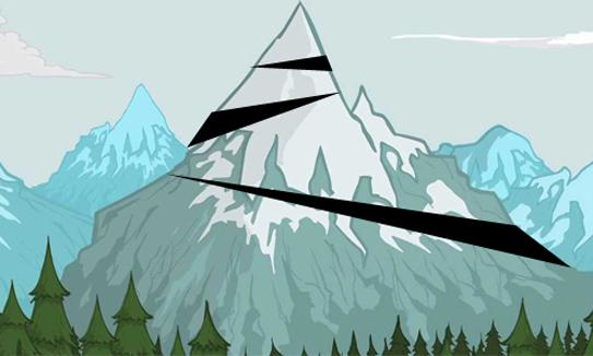 núi nào bị chặt ra từng khúc