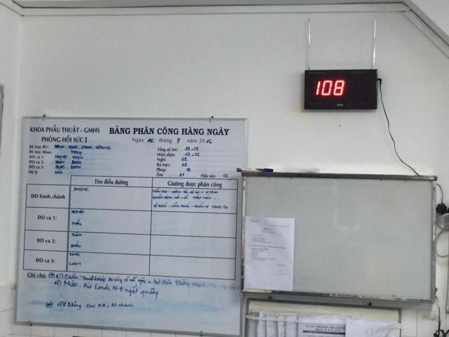 bảng hiển thị số được lắp đặt tại các bệnh viện