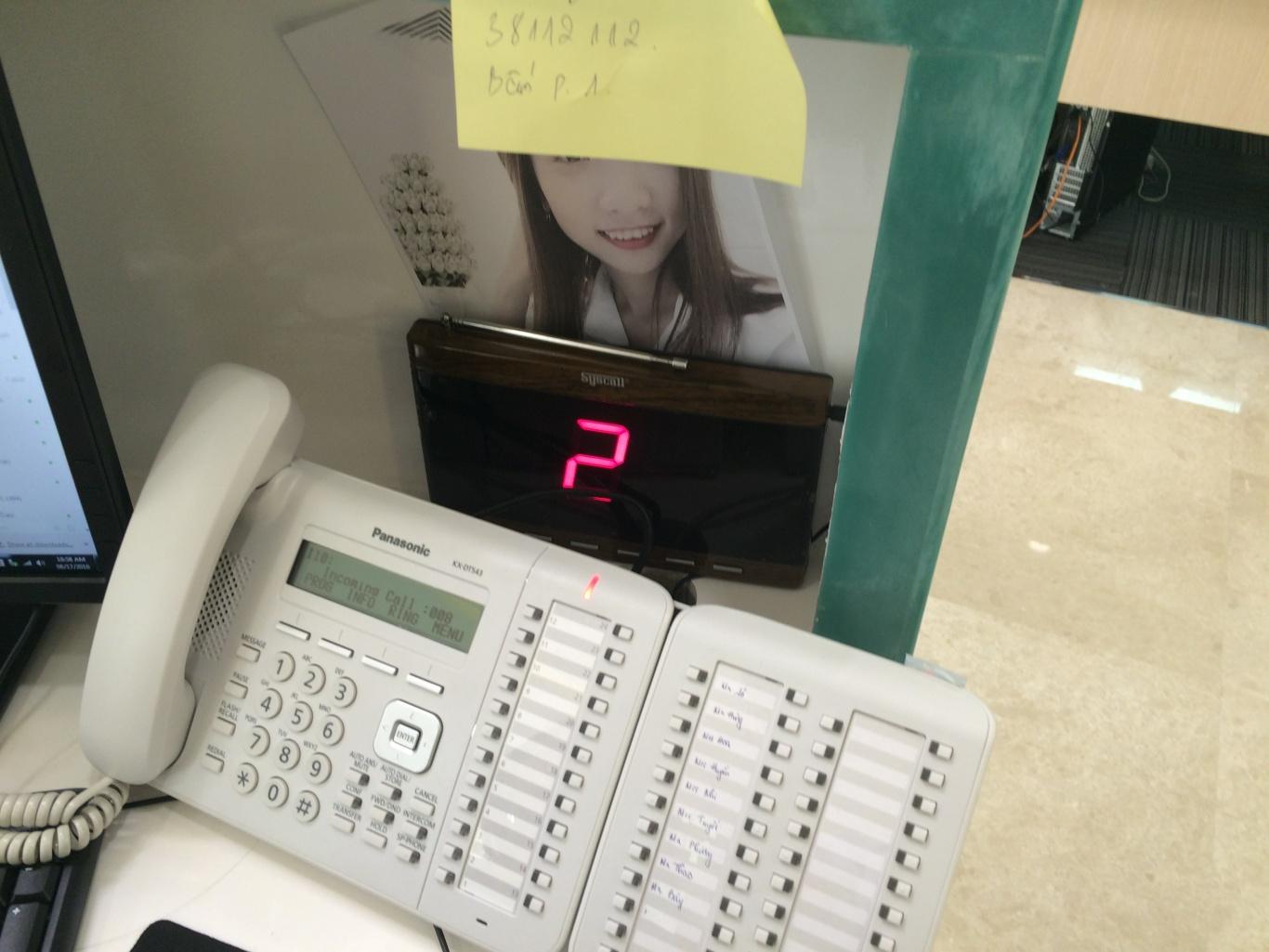 bảng hiển thị số được lắp đặt tại Bệnh Viện Đa Khoa Tuyên Quang