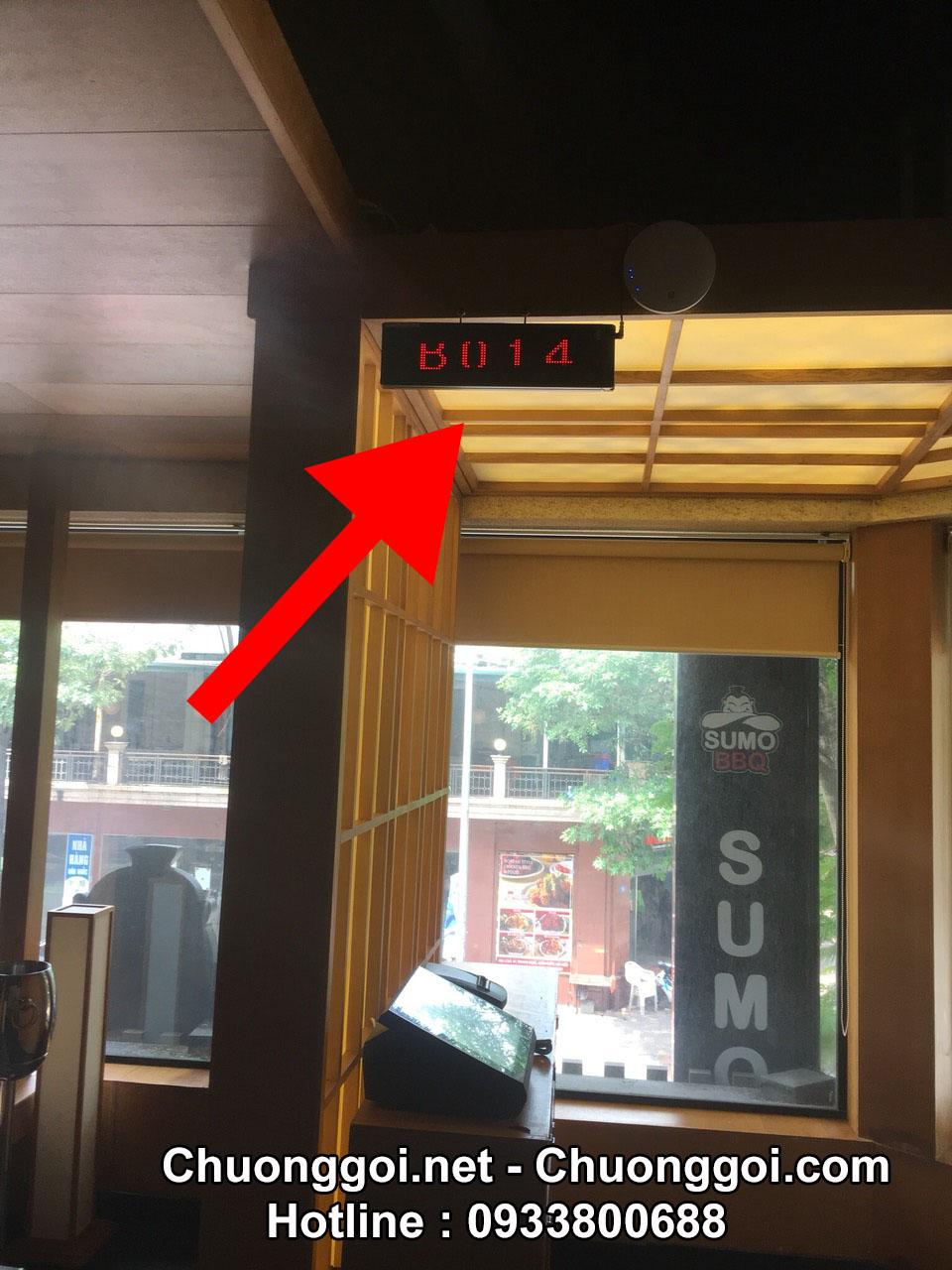 Lắp đặt thiết bị chuông gọi không dây tại nhà hàng Sumo BBQ 122 Trung Hòa