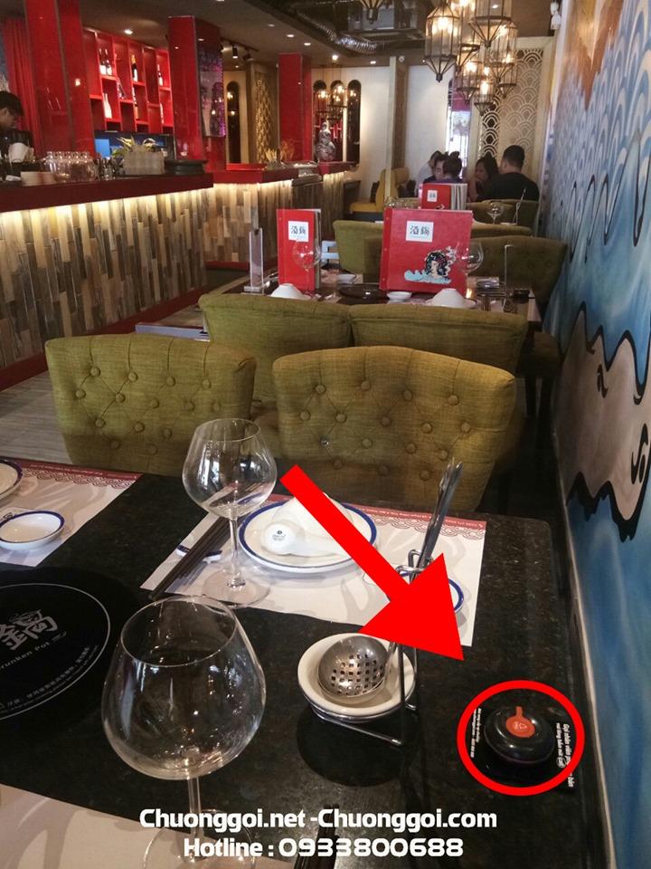 nút chuông gọi không dây tại nhà hàng the drunken pot