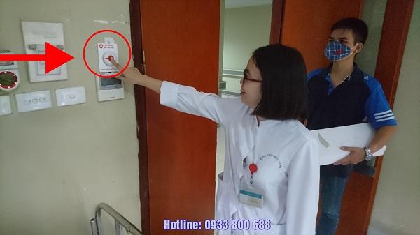 nút chuông gọi y tá được lắp đặt tại các bệnh viện