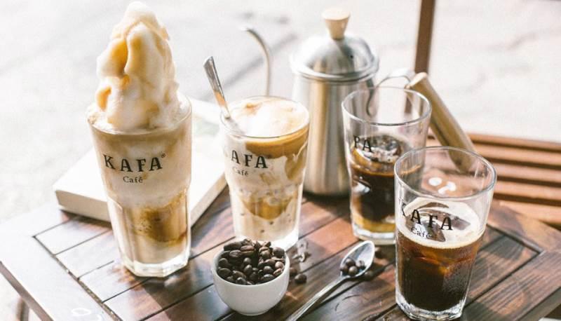 menu đồ uống tại Kafa cafe