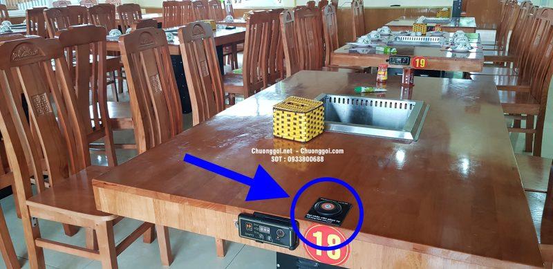 nút chuông gọi lắp đặt ở nhà hàng bến thượng hải