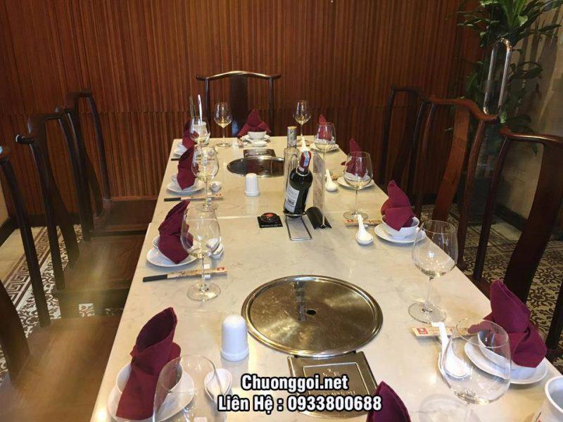 nút chuông gọi được lặp đặt tại nhà hàng lẩu nấm ashima