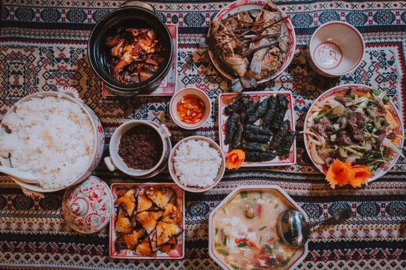Món ăn ngon và bài trí đẹp mắt tại nhà hàng Sam Garden