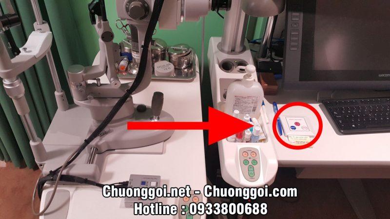hình ảnh nút chuông gọi y tá tại bệnh viện mắt quốc tế nhật bản