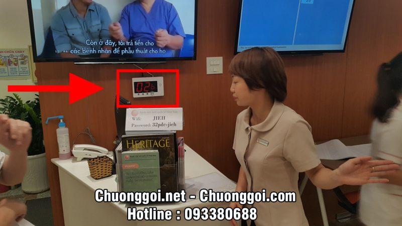 màn hình led hiển thị số tại Bệnh Viện Mắt Quốc Tế Nhật Bản